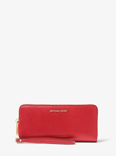 821c545709b5d0 Leather Continental Wristlet | Michael Kors