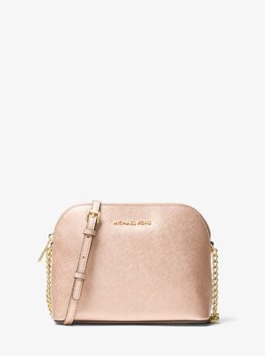 750562fa0bc234 Cindy Large Metallic Leather Crossbody Bag | Michael Kors
