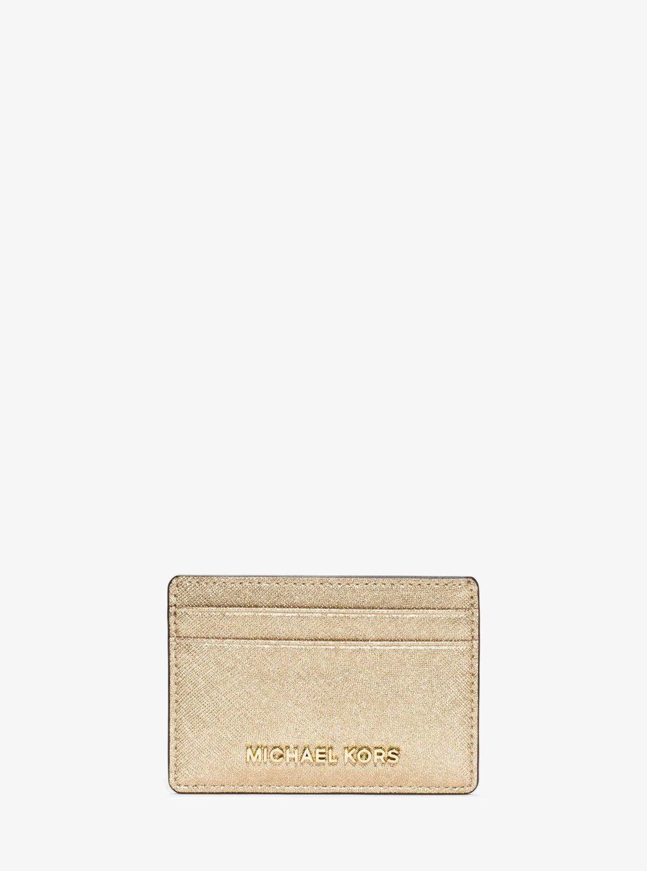 a86cf6763f Porta carte di credito Jet Set Travel in pelle Saffiano metallizzata ...