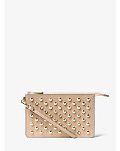Daniela Medium Studded Leather Wristlet