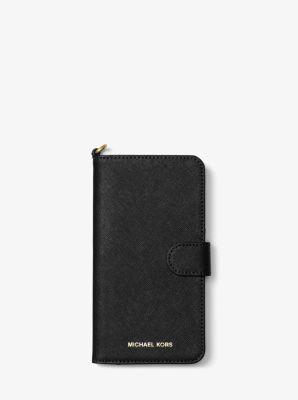 c6b9898d36b Funda de teléfono tipo folio de piel saffiano para iPhone 7 Plus   Michael  Kors
