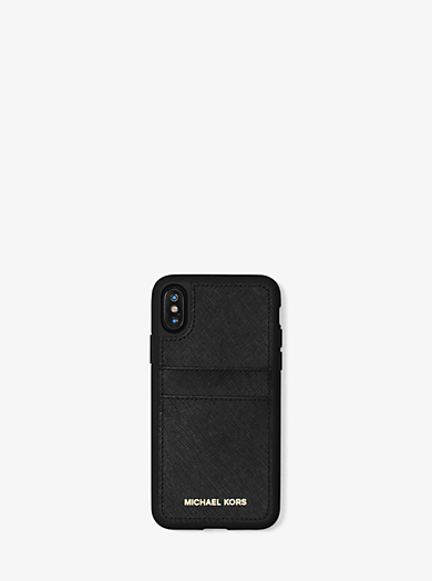 c1487ad6ab13 Saffiano Leather Case for iPhone X · michael michael kors ...
