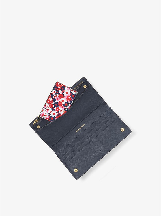 Jet Set Carnation Slim Wallet