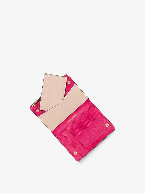Jet Set Medium Saffiano Leather Slim Wallet