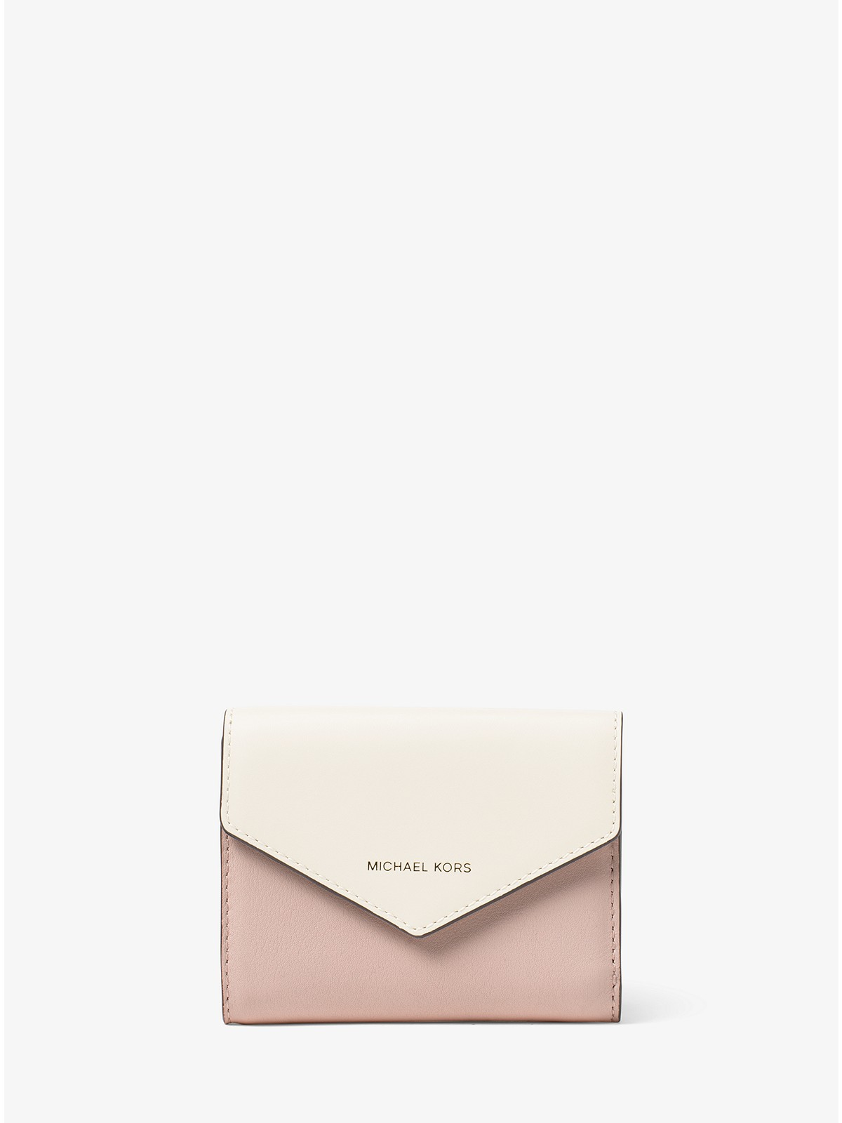 5e8bef189947 Michael Kors Jet Set Small Color-Block Leather Envelope Wallet at ...