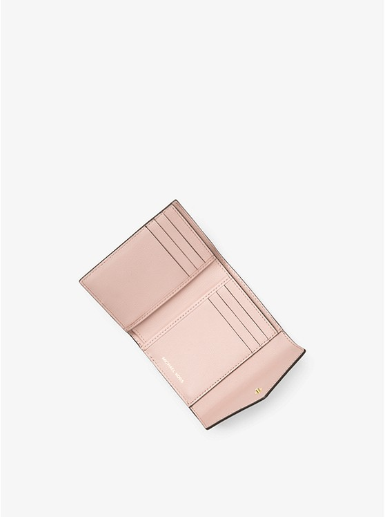 Jet Set Small Color-Block Leather Envelope Wallet