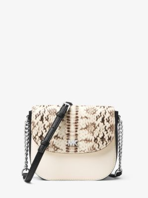 9aab6107d8dd Mott Snake-embossed Leather Dome Crossbody