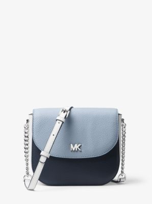 Mott Color Block Leather Dome Crossbody by Michael Kors