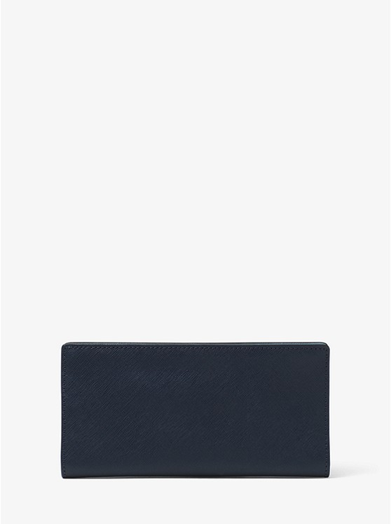 Jet Set Saffiano Leather Slim Wallet