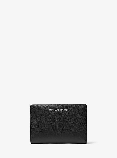 211c61f862e9 Medium Saffiano Leather Slim Wallet   Michael Kors