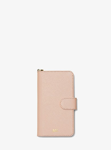 7b077dbdca1a4a Saffiano Leather Folio Case For Iphone X/xs | Michael Kors