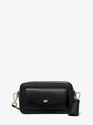 08c6d4ae6170 Small Pebbled Leather Camera Bag | Michael Kors