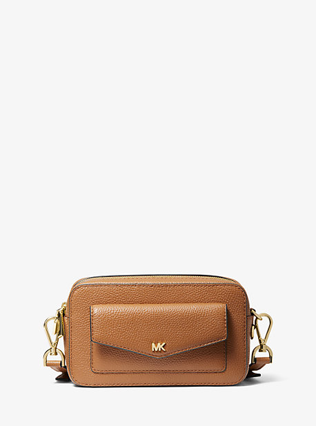 Small Pebbled Leather Camera Bag Michael Kors