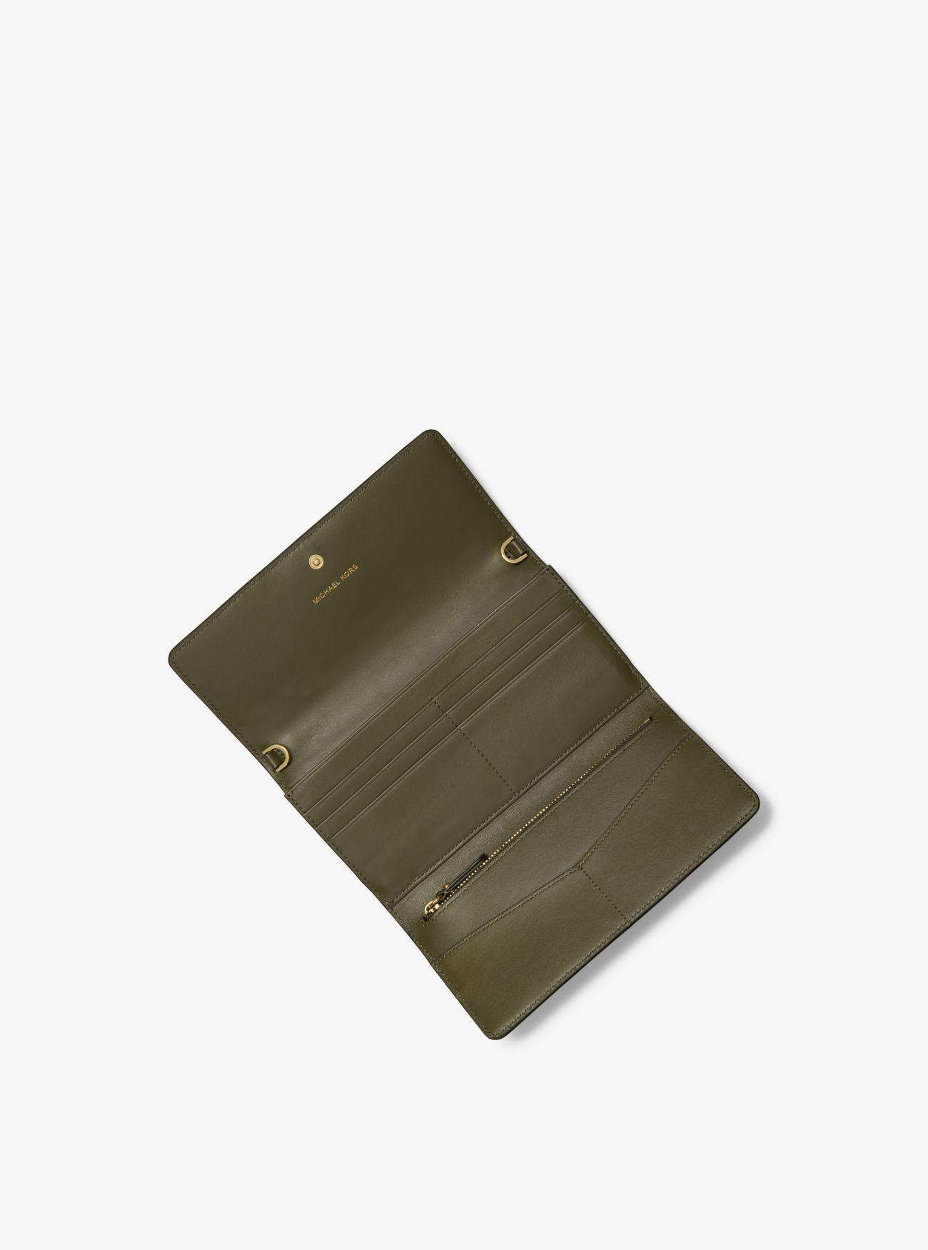 ... Portafoglio convertibile grande in pelle con farfalle e catena ... 21a9f734999
