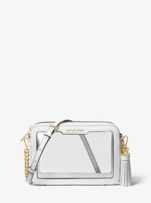 0e8d03fff813 Ginny Medium Clear and Leather Crossbody Bag | Michael Kors