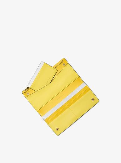 0074c50f952e92 Large Tri-color Leather Slim Wallet | Michael Kors
