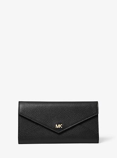 4225bc3eb414 Large Pebbled Leather Envelope Wallet | Michael Kors