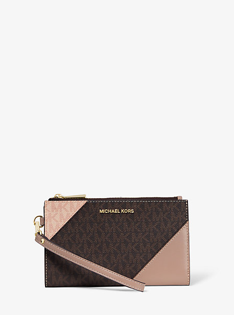 e091c1d31a04 Adele Two-Tone Logo and Leather Smartphone Wallet · michael michael kors ...