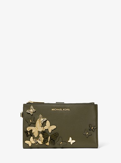 026457f6ebd2cf Adele Butterfly Embellished Leather Smartphone Wallet | Michael Kors