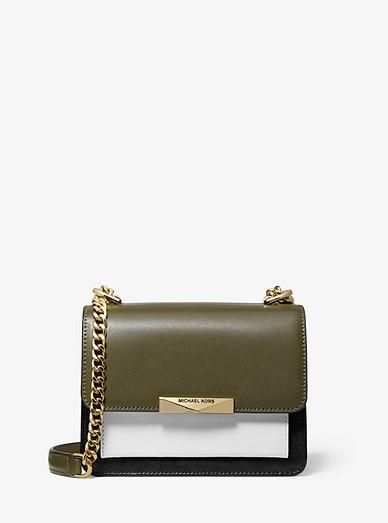 ec5225f19ae06f Jade Extra-small Tri-color Leather Crossbody Bag | Michael Kors