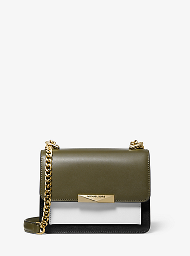 1bd6ec368f8b11 Jade Extra-Small Tri-Color Leather Crossbody Bag · michael michael kors ...
