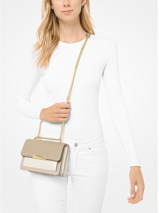 Jade Extra-Small Tri-Color Leather Crossbody Bag