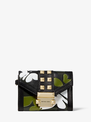 1b659eebe3b9 Whitney Small Butterfly Camo Leather Chain Wallet | Michael Kors
