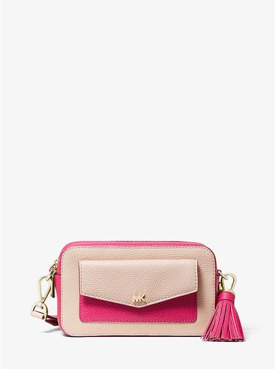 774f0f8b675f Small Two-tone Pebbled Leather Camera Bag | Michael Kors