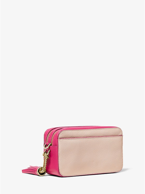 7aaa90caf26 Small Two-tone Pebbled Leather Camera Bag | Michael Kors