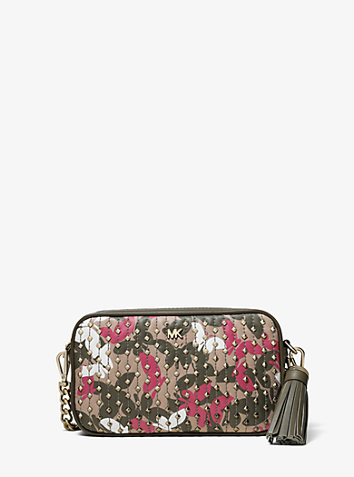 debbc122e91f Small Studded Butterfly Camo Camera Bag. michael michael kors ...