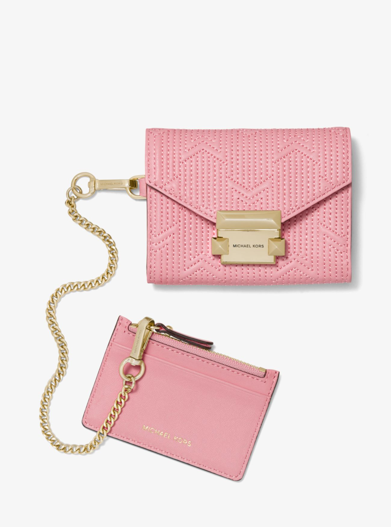 963b2b2da4b1 ... Whitney Small Deco Quilted Leather Chain Wallet ...