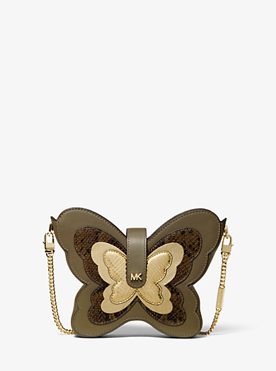 5641ebf72fe6 Butterfly Leather Crossbody · michael michael kors ...