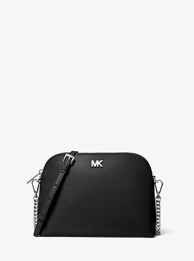 Large Crossgrain Leather Dome Crossbody Bag Michael Kors