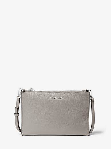 Adele Pebbled Leather Crossbody Bag