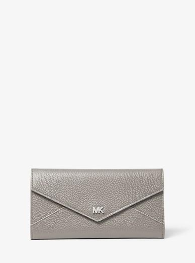 9d9e0af1567d Large Two-tone Pebbled Leather Envelope Wallet | Michael Kors