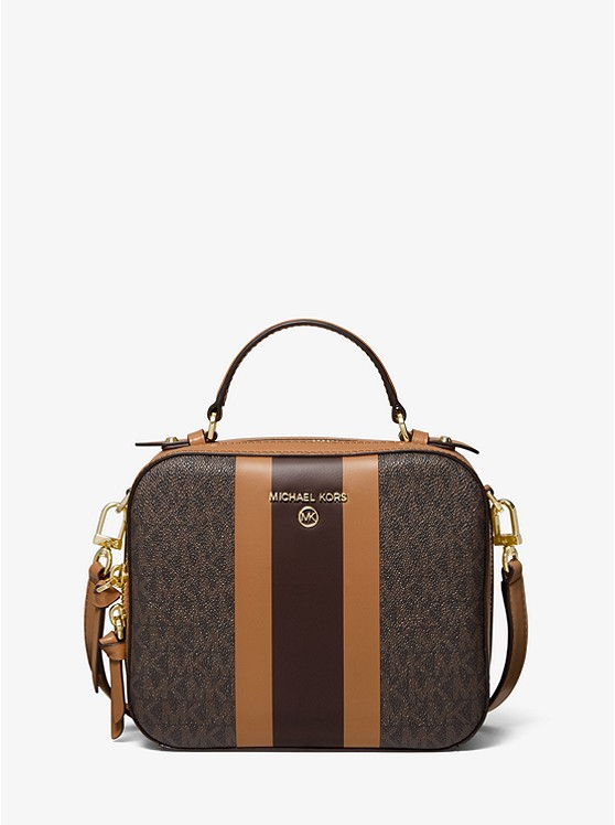 Jet Set Medium Logo Stripe Crossbody Bag