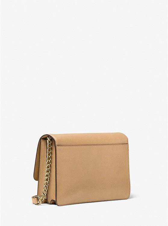 Daniela Large Saffiano Leather Crossbody Bag