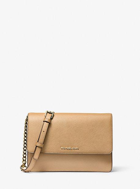 마이클 마이클 코어스 Michael Michael Kors Daniela Large Saffiano Leather Crossbody Bag,CAMEL