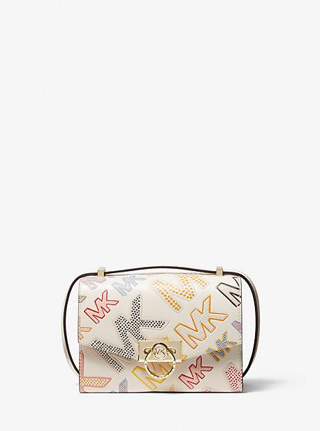 마이클 마이클 코어스 Michael Michael Kors Hendrix Extra-Small Logo Embossed Leather Convertible Crossbody Bag