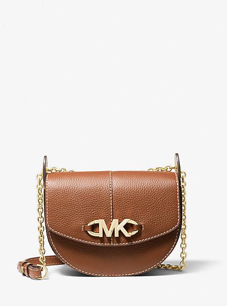 마이클 마이클 코어스 새들백 스몰 Michael Michael Kors nIzzy Small Pebbled Leather Saddle Crossbody Bag