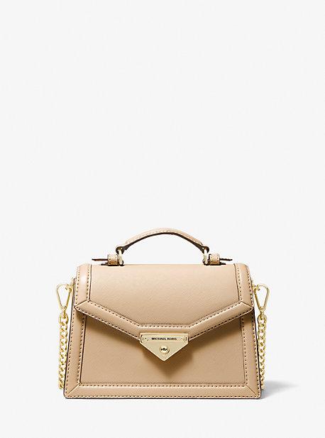 마이클 마이클 코어스 Michael Michael Kors Grace Small Saffiano Leather Crossbody Bag,CAMEL