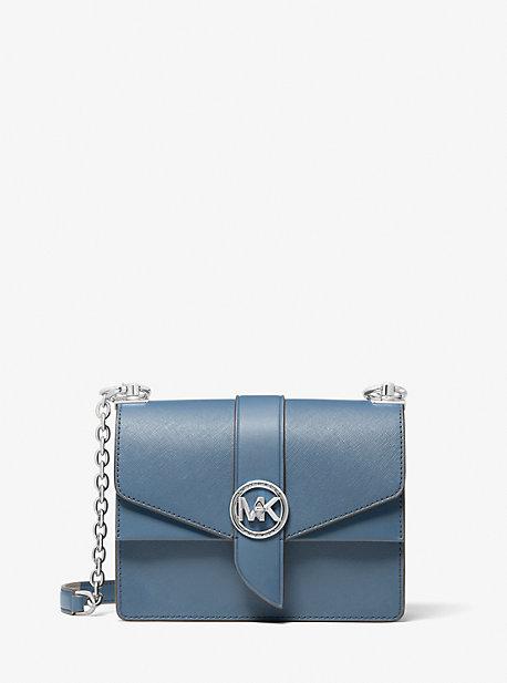 마이클 마이클 코어스 그린위치백 스몰 Michael Michael Kors Greenwich Small Saffiano Leather Crossbody Bag,DENIM