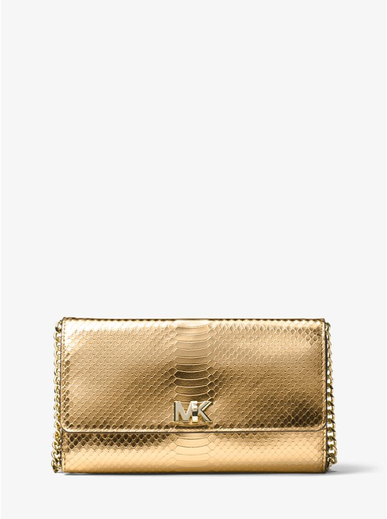 024e628ff6fe Mott Metallic Snake-Embossed-Leather Clutch ...