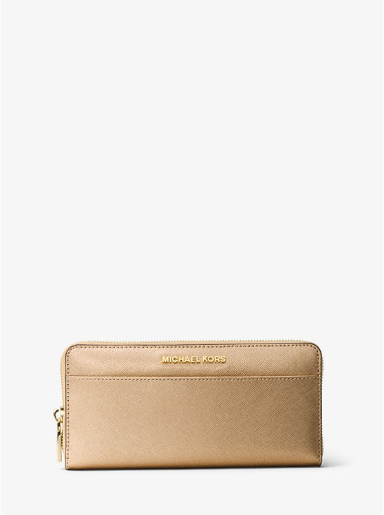 Mercer Metallic Leather Continental Wallet