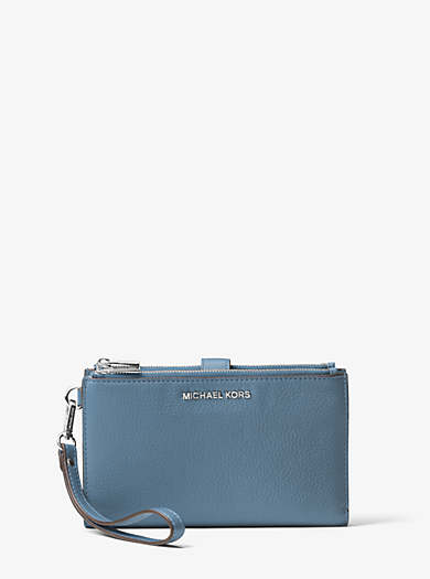 7c41fd324bcc closeout michael kors jet set bag with matching mk wallet 387e0 b97e8;  italy adele leather smartphone wallet. michael michael kors bfec6 2e040