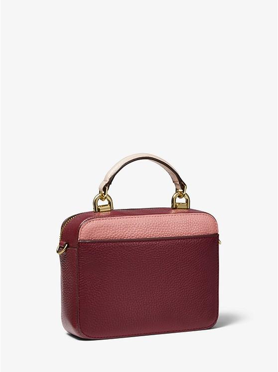 8342a530d7262 ... Mott Mini Color-Block Pebbled Leather Crossbody ...