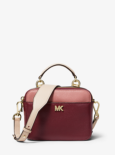 Mott Mini Color Block Pebbled Leather Crossbody Michael Kors