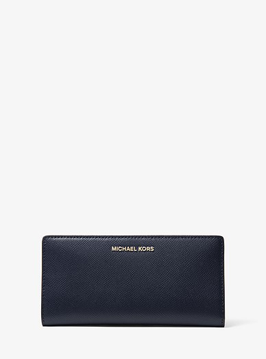 23e6e44360525f Large Saffiano Leather Slim Wallet | Michael Kors