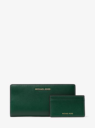 Grand portefeuille fin en cuir saffiano · michael michael kors · Grand  portefeuille ... e3776b0ade8