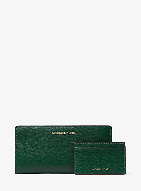 14a454dad645 Large Saffiano Leather Slim Wallet